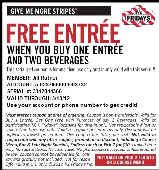 How to use a T.G.I. Friday's coupon